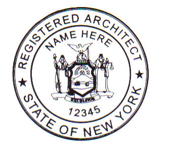 New york architect stamp new york architect stamp for New york state architect stamp