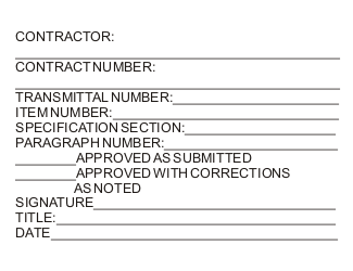 Individual Contractor Submittal Stamp