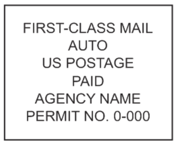 First Class Auto Mail Stamp PSI-4141