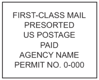 First Class Presorted Mail Stamp PSI-4141
