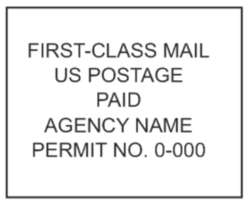 bulk mail permit stamp imprints
