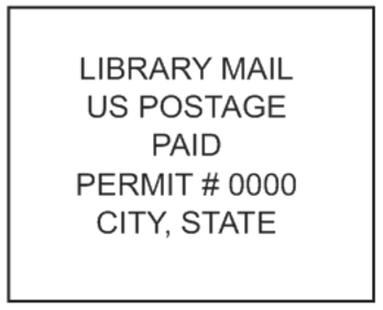 Library Mail Stamp PSI-4141