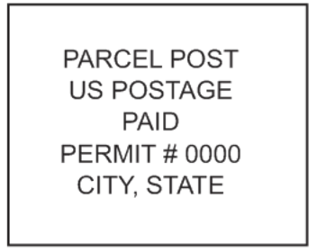 Parcel Post Mail Stamp PSI-4141