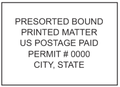 Presorted Bound Printed Matter Mail Stamp PSI-4141