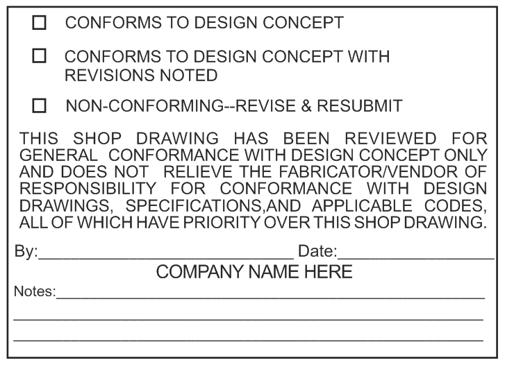 Shop Draw-Conformance Stamp