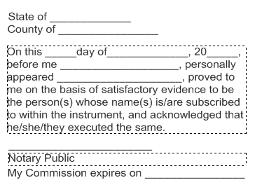 Notary Public Certificate Stamps