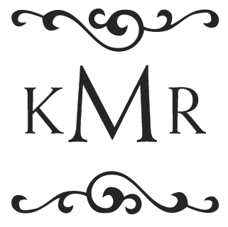 Monogram   Three letter stamp